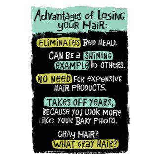 """""""Bald Advantages Poster Print"""""""