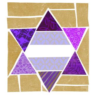 Purple Jewish Star