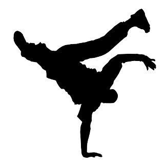 Breakdancing silhouette
