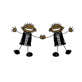 Two Grooms Dancing Happy Black