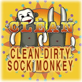 Clean Dirty Sock Monkey