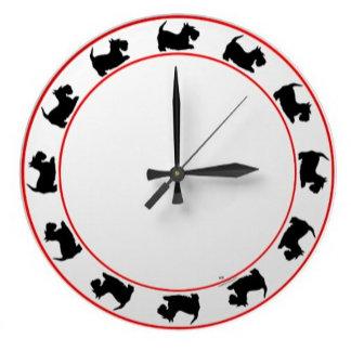 Scottish Terrier Silhouette Clocks