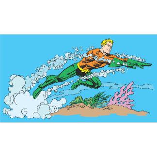 Aquaman Dashes Thru Water