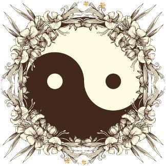 Vintage Floral Yin Yang