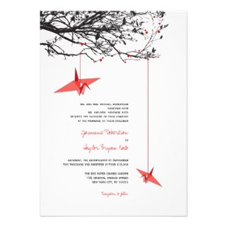 :: Red Cranes & Branches
