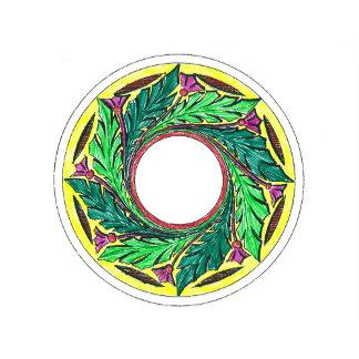 Round Leafy Victorian Ornament 1