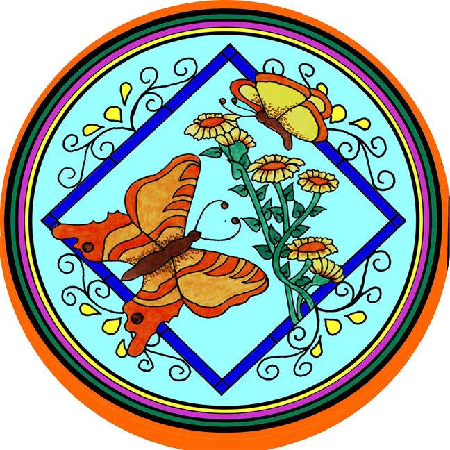 Butterflies & Flowers I