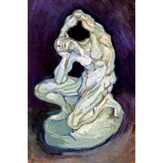 Statuette Of A Kneeling Man