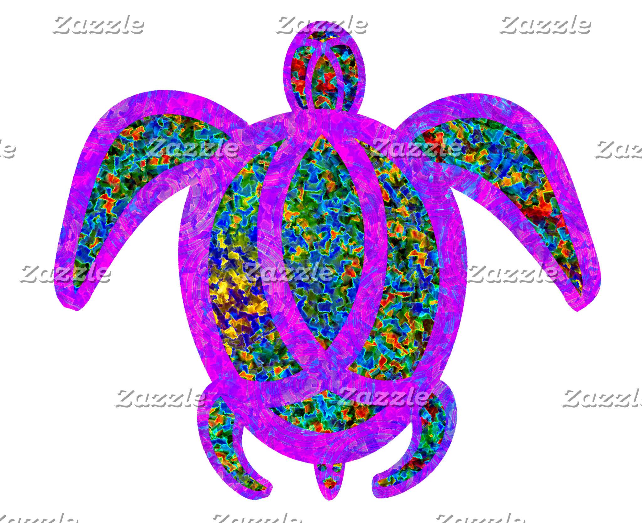 Painted Purple Turtle