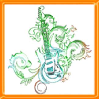 Tattoo Guitar Design