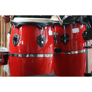 Bright red conga drums photo.jpg