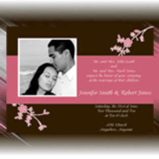 Love in Bloom: Chocolate Brown with Cherry Blossom