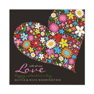:: Spring Flowers Valentine Heart