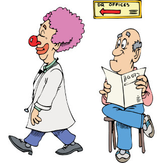Doctor 16 Patient Medical Office Exam Clown