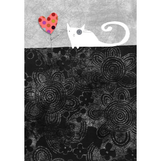 """""""Cat with heart flower Poster Print"""""""