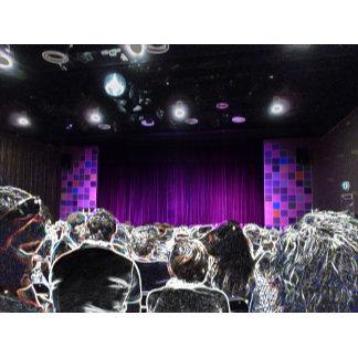 Purple stage solarized theater designA neat design