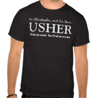 3 LINES Text Usher Wedding Party Shirt