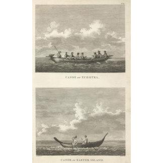 Canoe of Tchotka Canoe of Easter Island