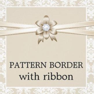 Pattern border with ribbon