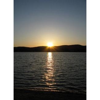 Sunset on Onota Lake: Vertical