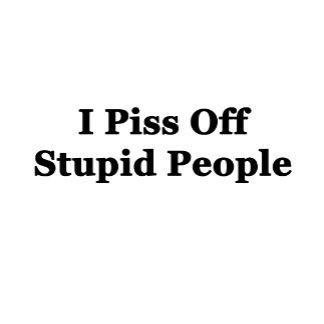 I Piss Off Stupid People.