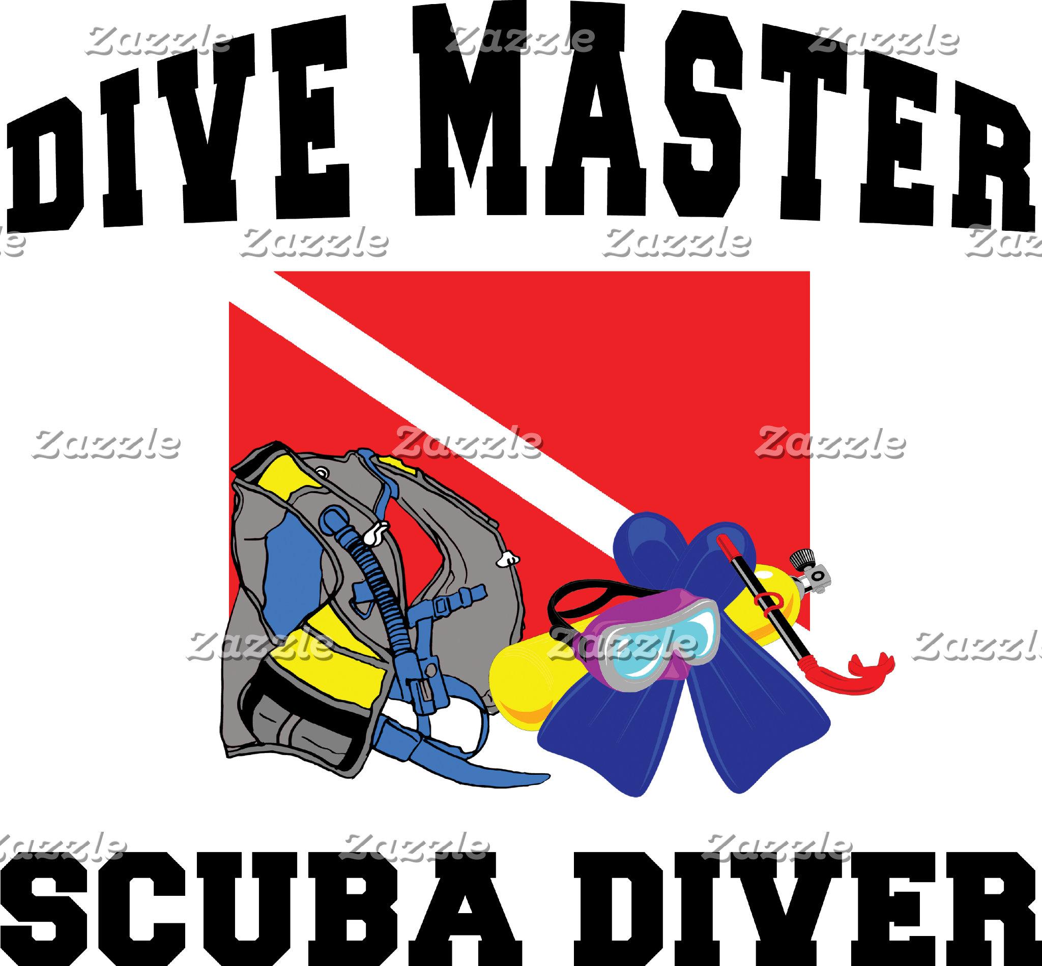 Dive Master SCUBA Diver T-Shirt Gifts