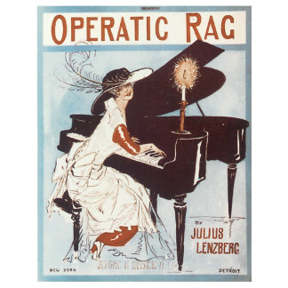 Operatic Rag - Vintage Song Sheet Music Art