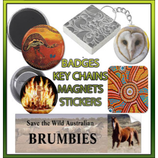 Badges Keyrings Magnets Stickers