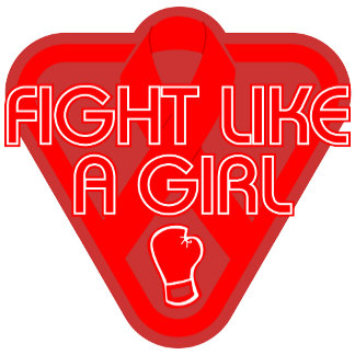Blood Cancer Fight Like A Girl Glove