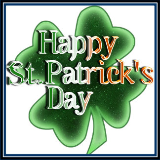 Happy St Patrick's Day (Irish Flag Color Text)