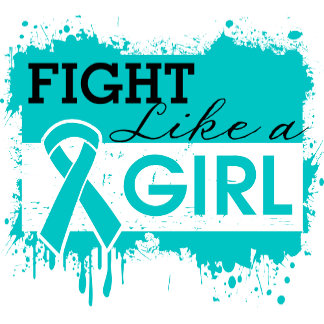 Ovarian Cancer Splatter Fight Like a Girl