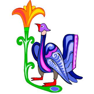 Abstract Bird & Flower (B)