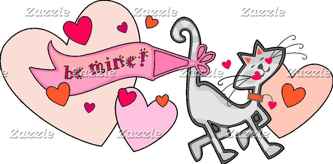 Valentine Be Mine Kitty Cat