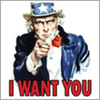 > Uncle Sam: I WANT YOU...