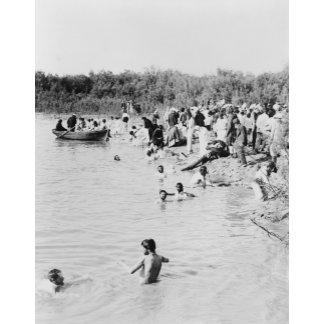 Bathing in Jordan River