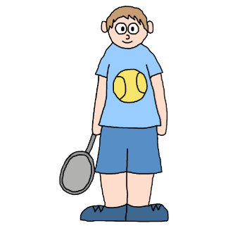 Boy Tennis Player.