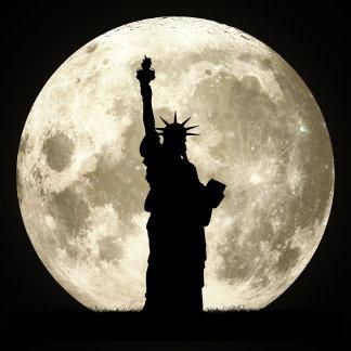 Full Moon Liberty Silhouette