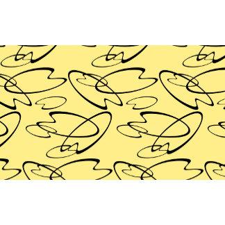 Mid Century Ellipsoid on yellow