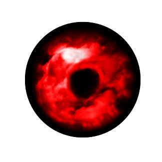 Red eye- Eyeball type graphic, done in red eye!