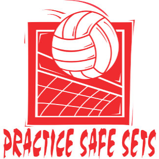 Practice Safe Sets Volleyball T-Shirts Gifts Cards