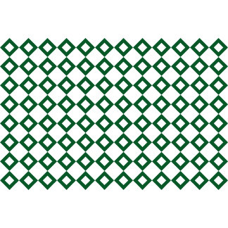 White and Green Diamond Pattern