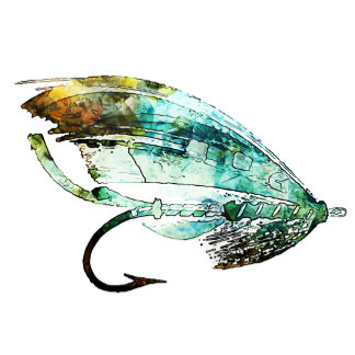 Watercolor Fly Fishing lure art