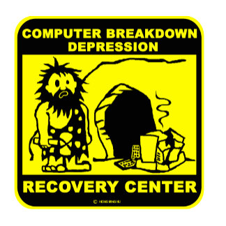 Computer breakdown depression recovery center