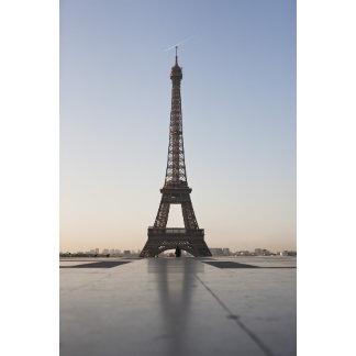 Eiffel Tower at dusk, Paris, Ile-de-France,