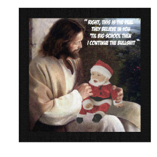 Funny Jesus and Santa greeting cards for atheists