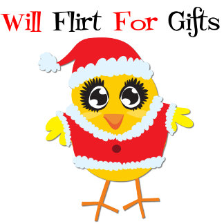 Will Flirt For Gifts - Cute Santa Chick