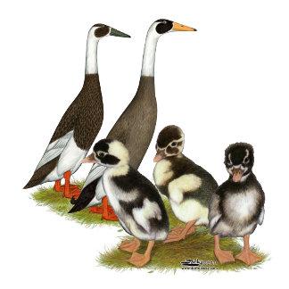 Emery Penciled Runner Duck Family