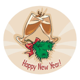 Happy New Year Champagne Clink
