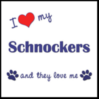 I Love My Schnockers (Multiple Dogs)
