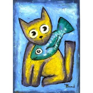 Folk art kitties